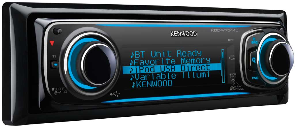 kenwood kdc w7544u usb cd mp3 autoradio biete car hifi. Black Bedroom Furniture Sets. Home Design Ideas